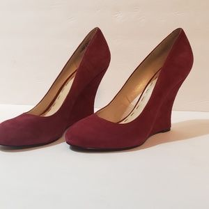 Nine West Suede Wine Wedges